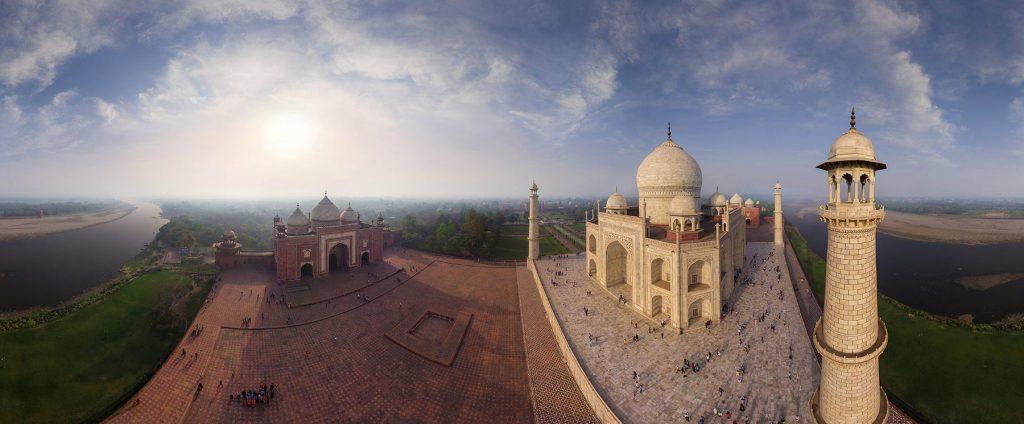 Taj Mahal, India. (Airpano/Caters News)