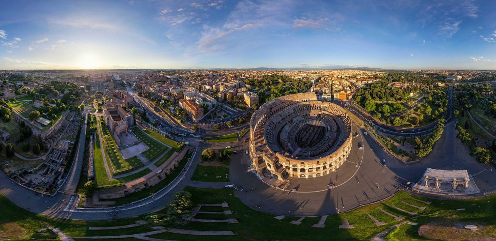 Colosseum, Rome Italy. (Airpano/Caters News)