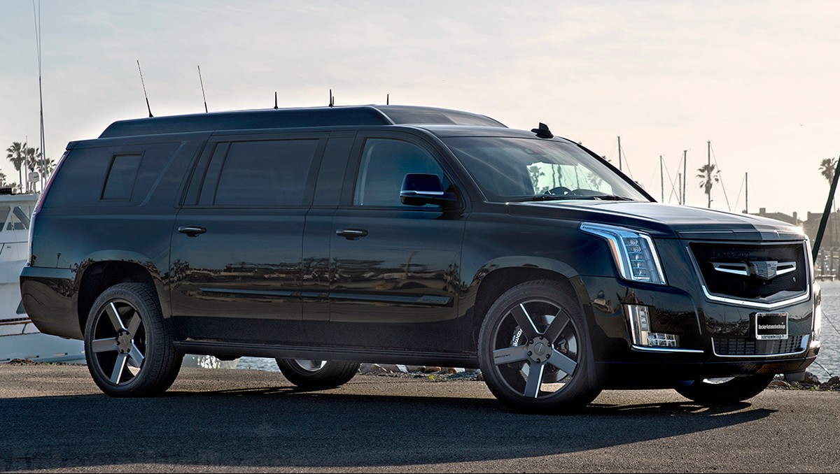 Custom Stretched Cadillac Escalade EVS Offers Private Jet ...