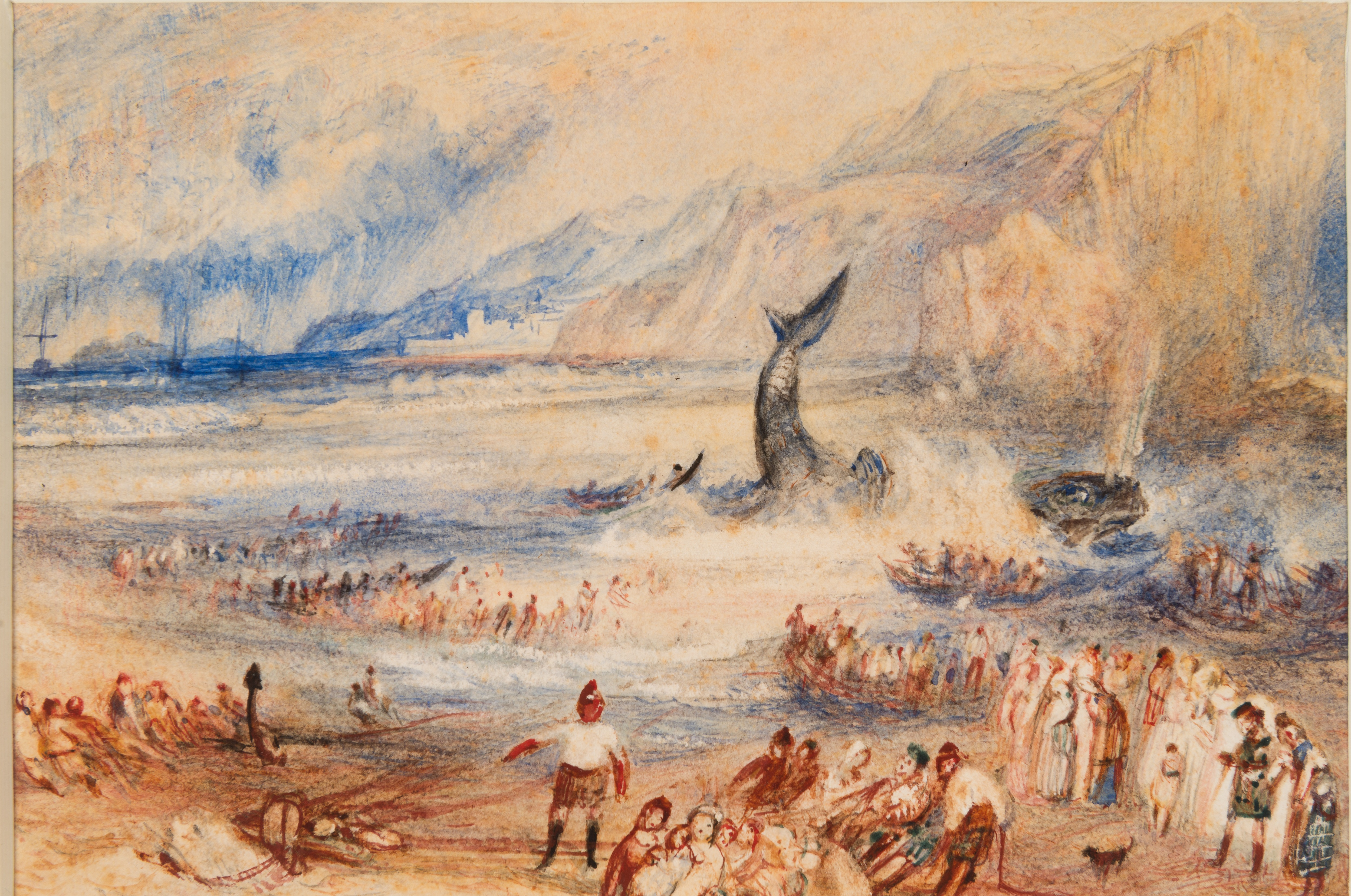 """The Whale on Shore,"" watercolor on paper, 1837 (Courtesy of The Met)"