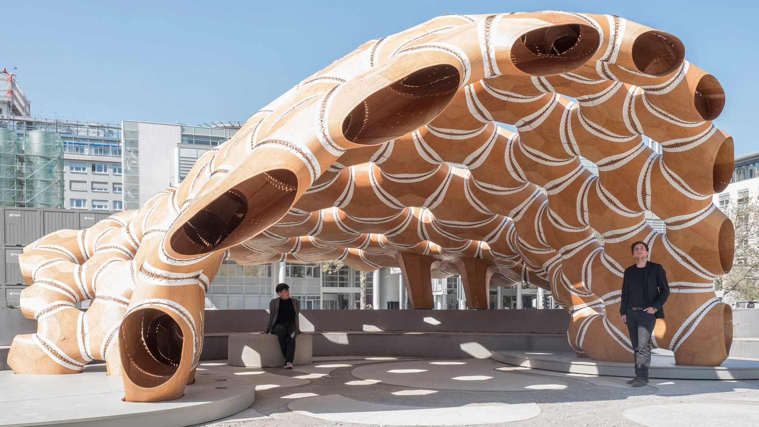 Robotically Constructed Pavilion Inspired By Sea Urchins