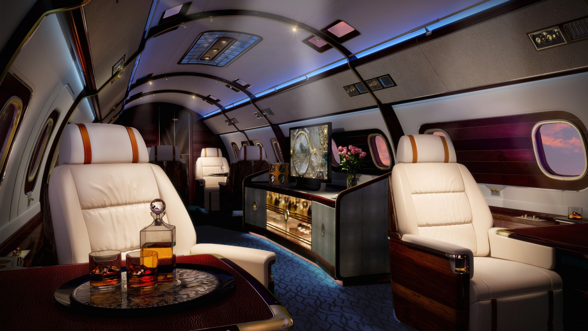 Head Turning Private Aircraft Interiors
