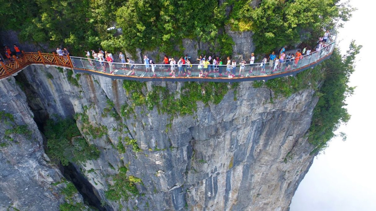 China Offers the Ultimate Unnerving Glass-Bottom Walkway