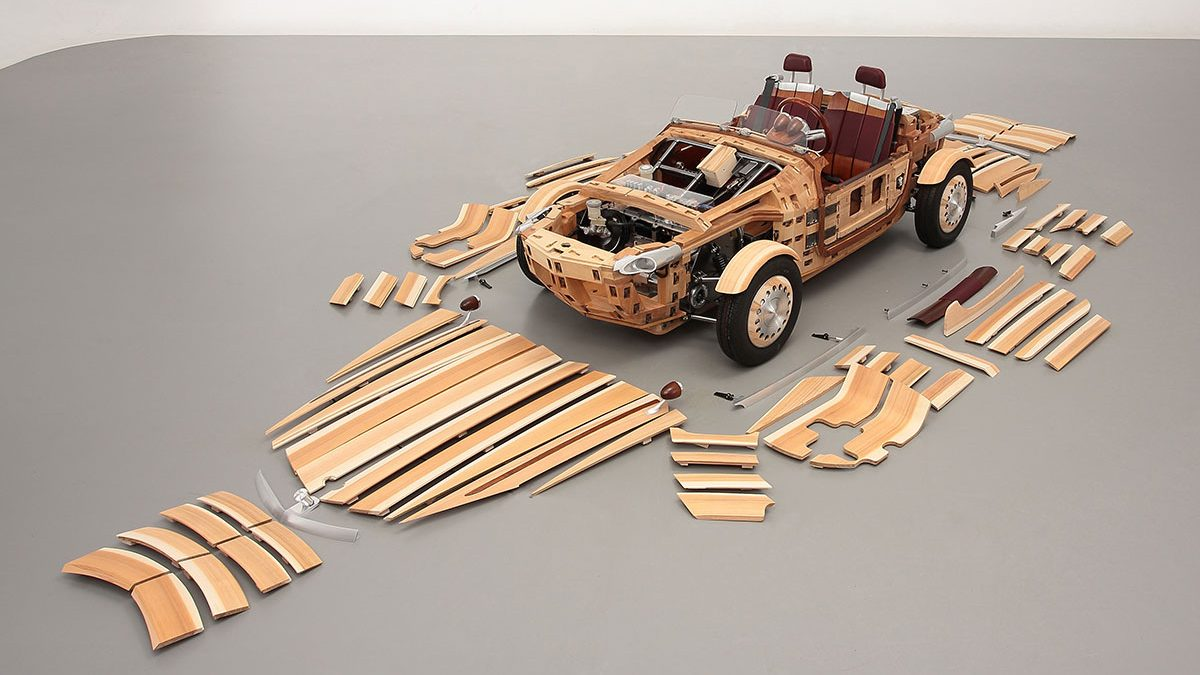 Toyota's Wooden Concept Car With Replaceable Panels