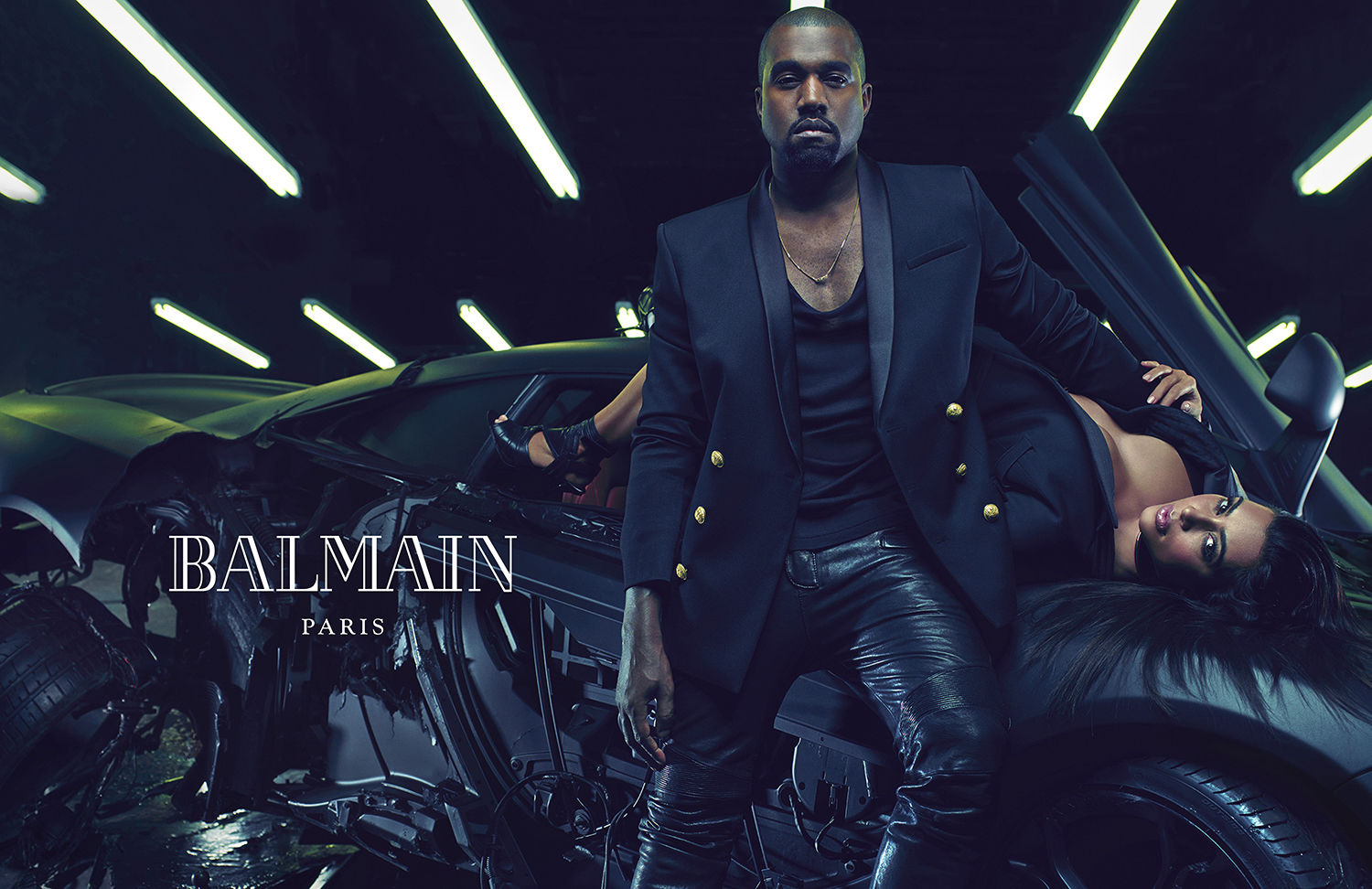 West's appearance in Balmain's 2014 campaign (Courtesy Balmain)