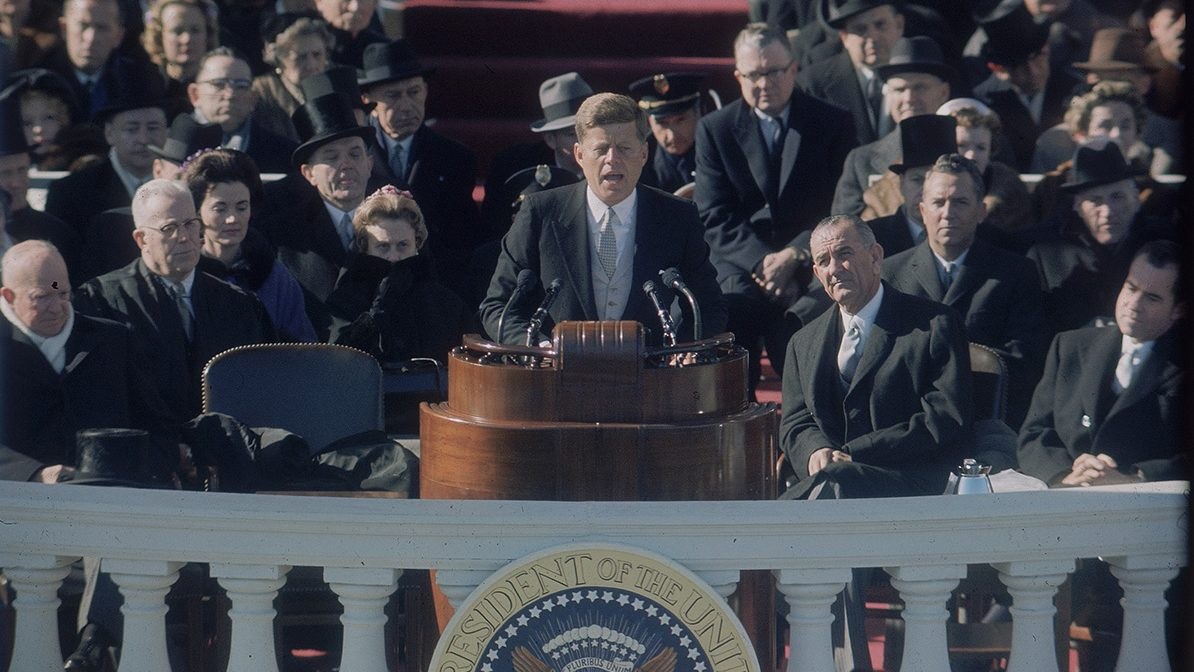 john f kennedys inagural speech No one knows how history will ultimately judge president obama's recent  inaugural address but most agree that president kennedy's inaugural address in .