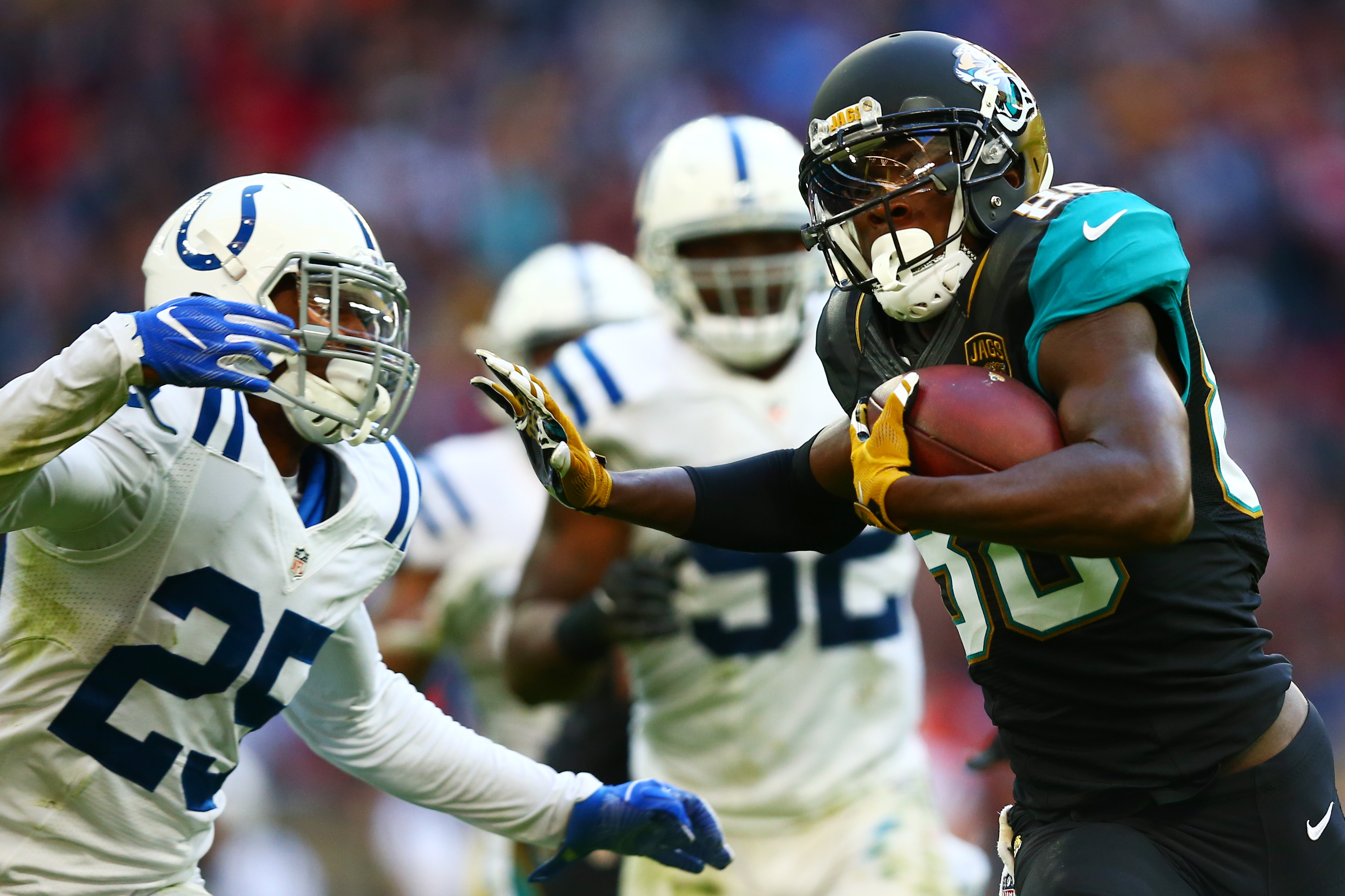 allen hurns 88 of the jacksonville jaguars hands off patrick robinson. Cars Review. Best American Auto & Cars Review