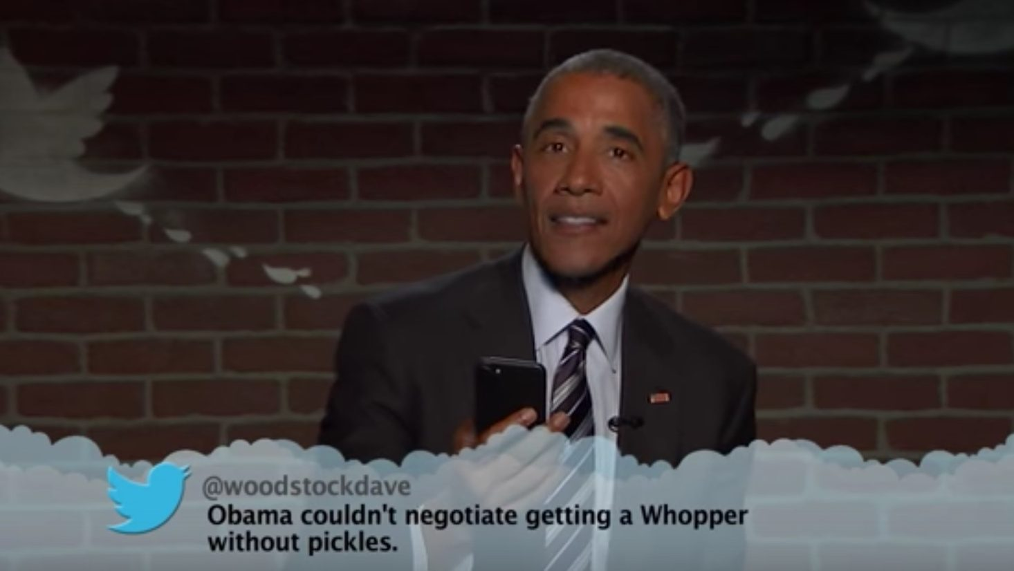 President Obama Reads Trump's 'Mean Tweet' on 'Jimmy Kimmel Live'