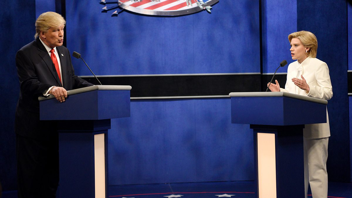 'Saturday Night Live' Skewers Final Trump vs. Clinton Debate