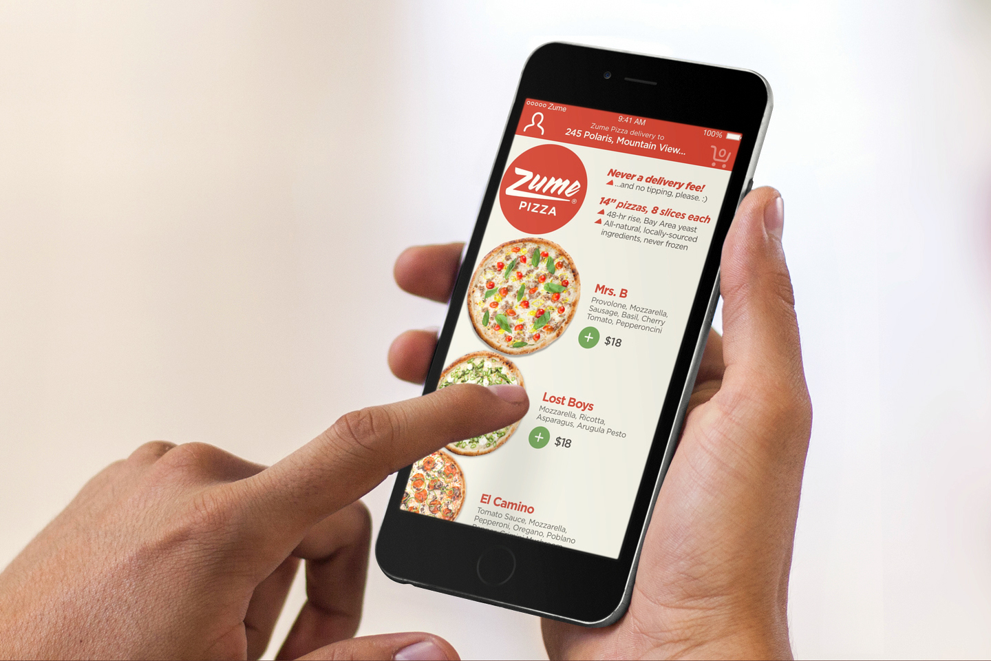 Zume Pizza uses the sales data it receives for its app and website to help meet demand. (Courtesy Zume Pizza)