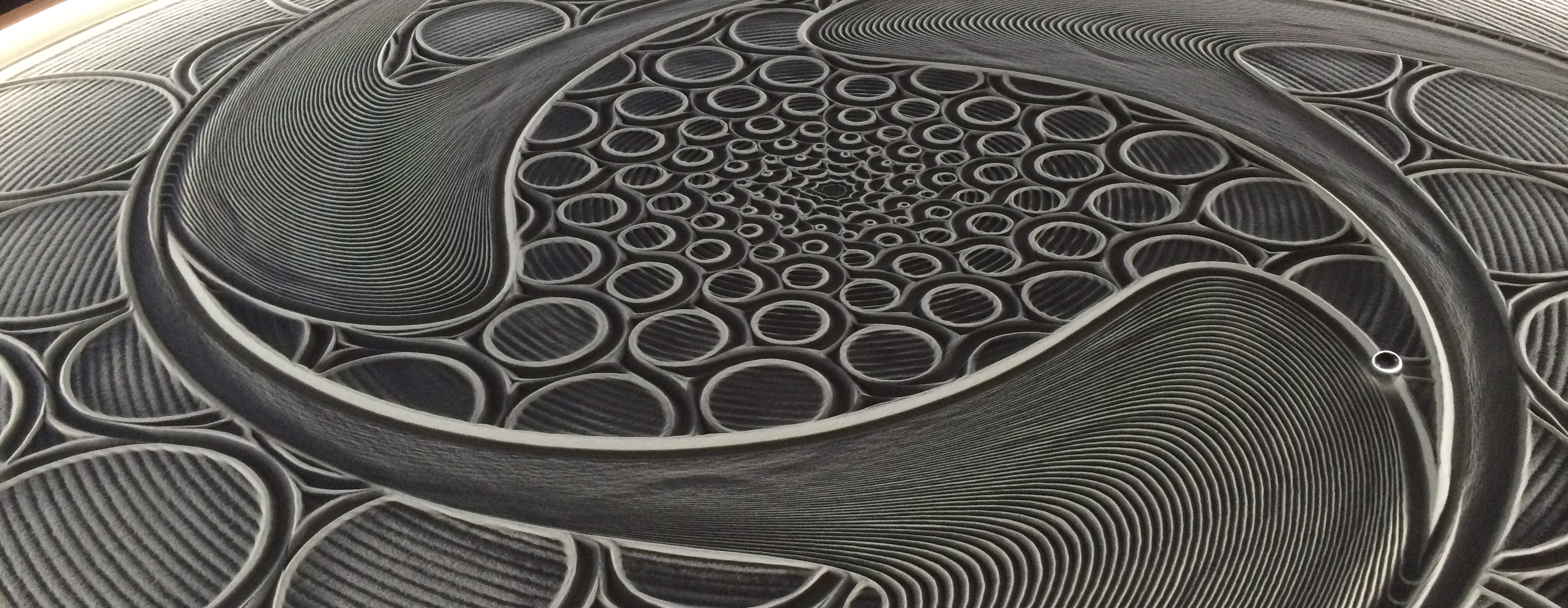 Robotic Table Art Sisyphus Creates Sand Drawings By Itself