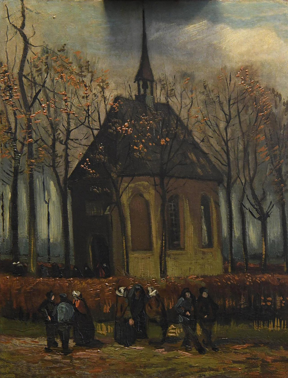 Congregation Leaving The Reformed Church of Neunen by Vincent Van Gogh (ANSA via AP)