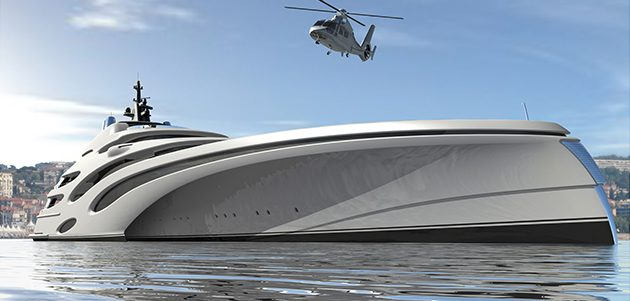 120m trimaran concept (Yacht Harbour)