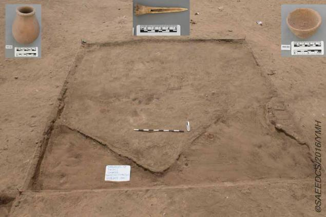 Tools and other artifacts tipped the archaeologists off to the residential site. (Egyptian Antiquities Ministry)