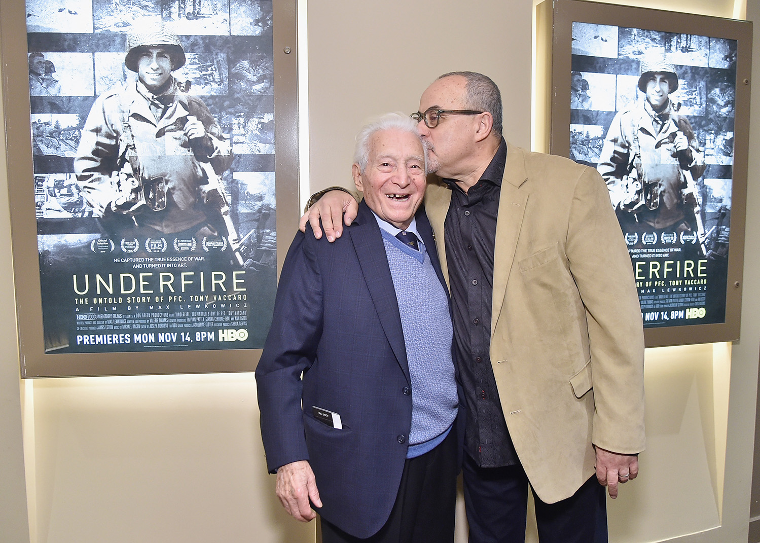 Photographer/film subject Tony Vaccaro and Director Max Lewkowicz attend a special screening of their new film on November 1, 2016 in New York City. (Mike Coppola/Getty Images for HBO)