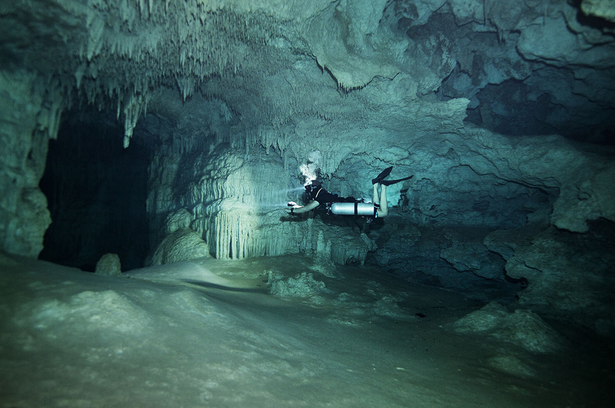Exploring Underwater Caves in Mexico's Yucatan Peninsula