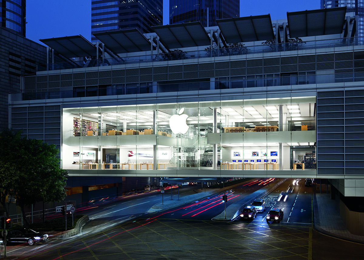 An Apple Store in Hong Kong