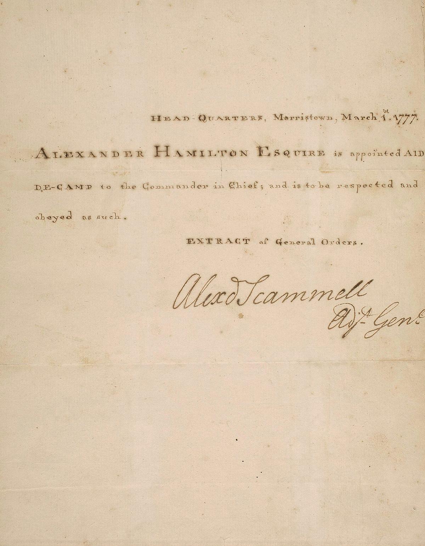 Alexander Hamilton Auction Features Love Letters Political Notes