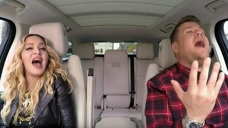 Corden Returns for More 'Carpool Karaoke' With Madonna