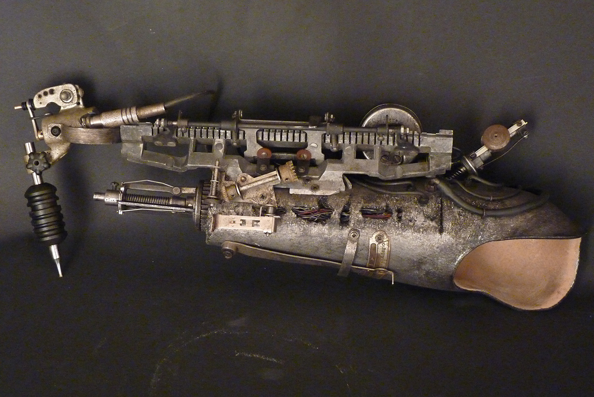 Prosthetic Arm Tattoo Gun