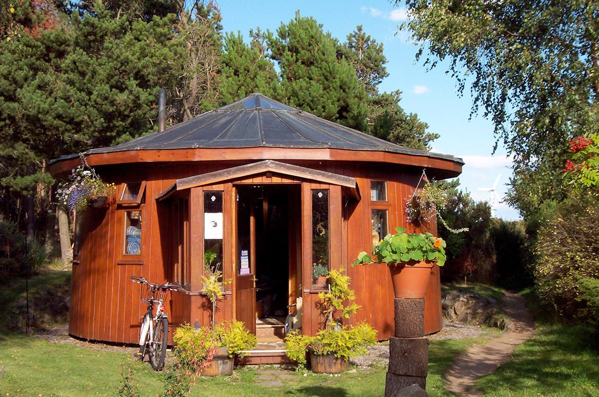 Findhorn Ecovillage Whiskey Barrel House