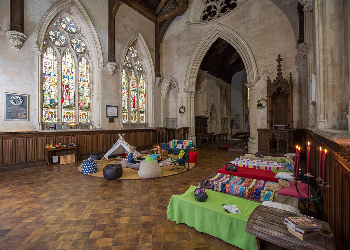 Champing in Medieval Churches in England
