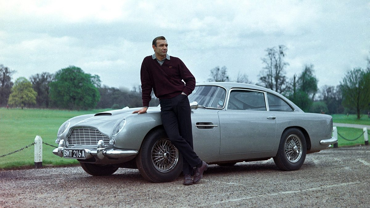james bond's aston martin db5 from 'goldfinger' stars at paris