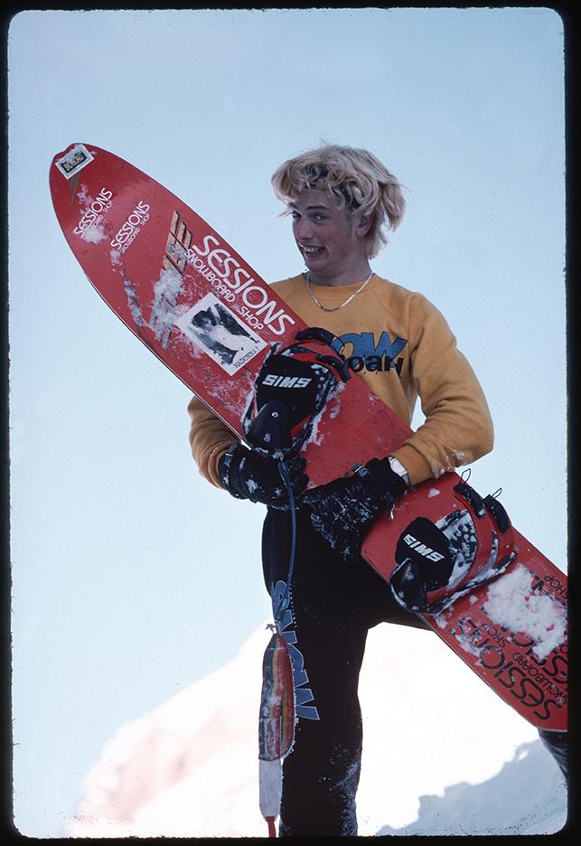 Shaun Palmer shot by Bud Fawcett, 1987 (From Snow Beach edited by Alex Dymond, published by powerHouse Books.)