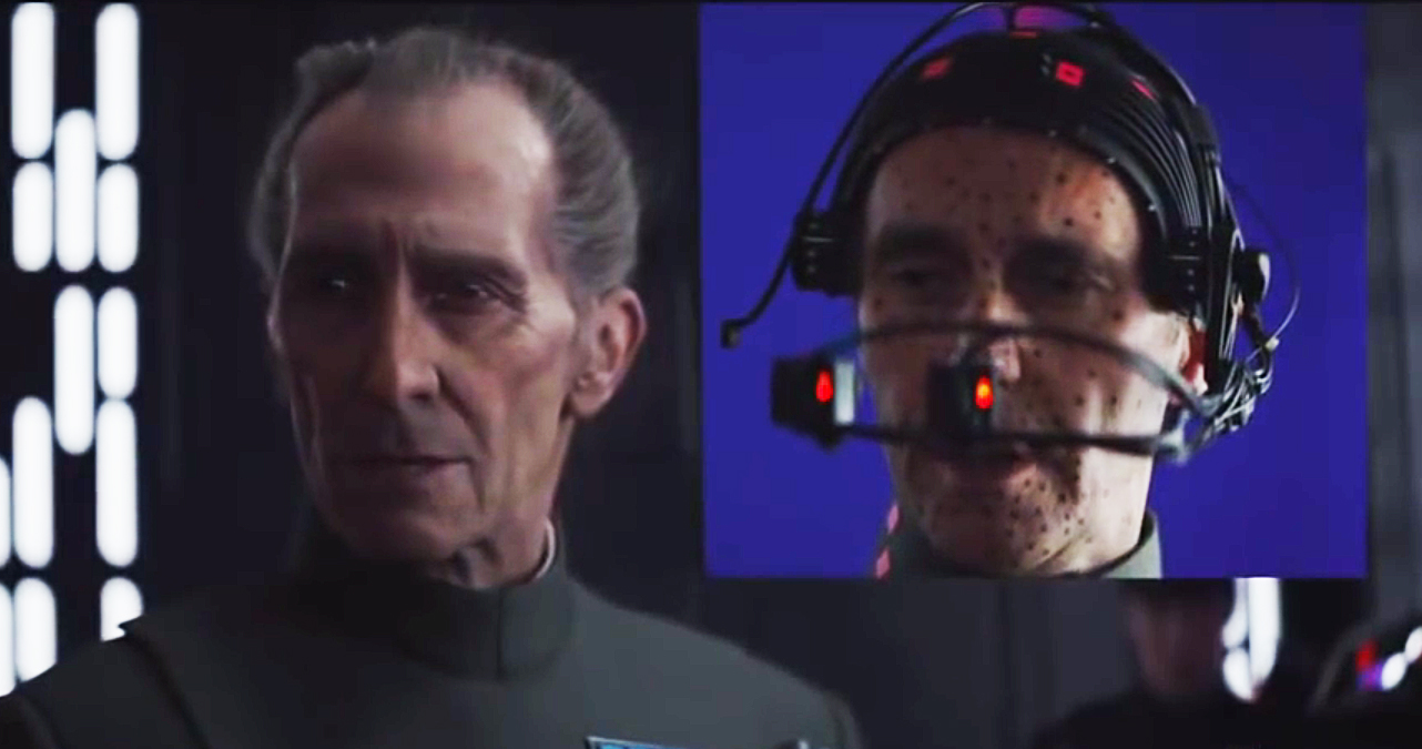 "Bringing back the late Peter Cushing for 'Rogue One,' a story taking place before the 1977 ""Star Wars"" was a CGI challenge. (ABC News via YouTube)"