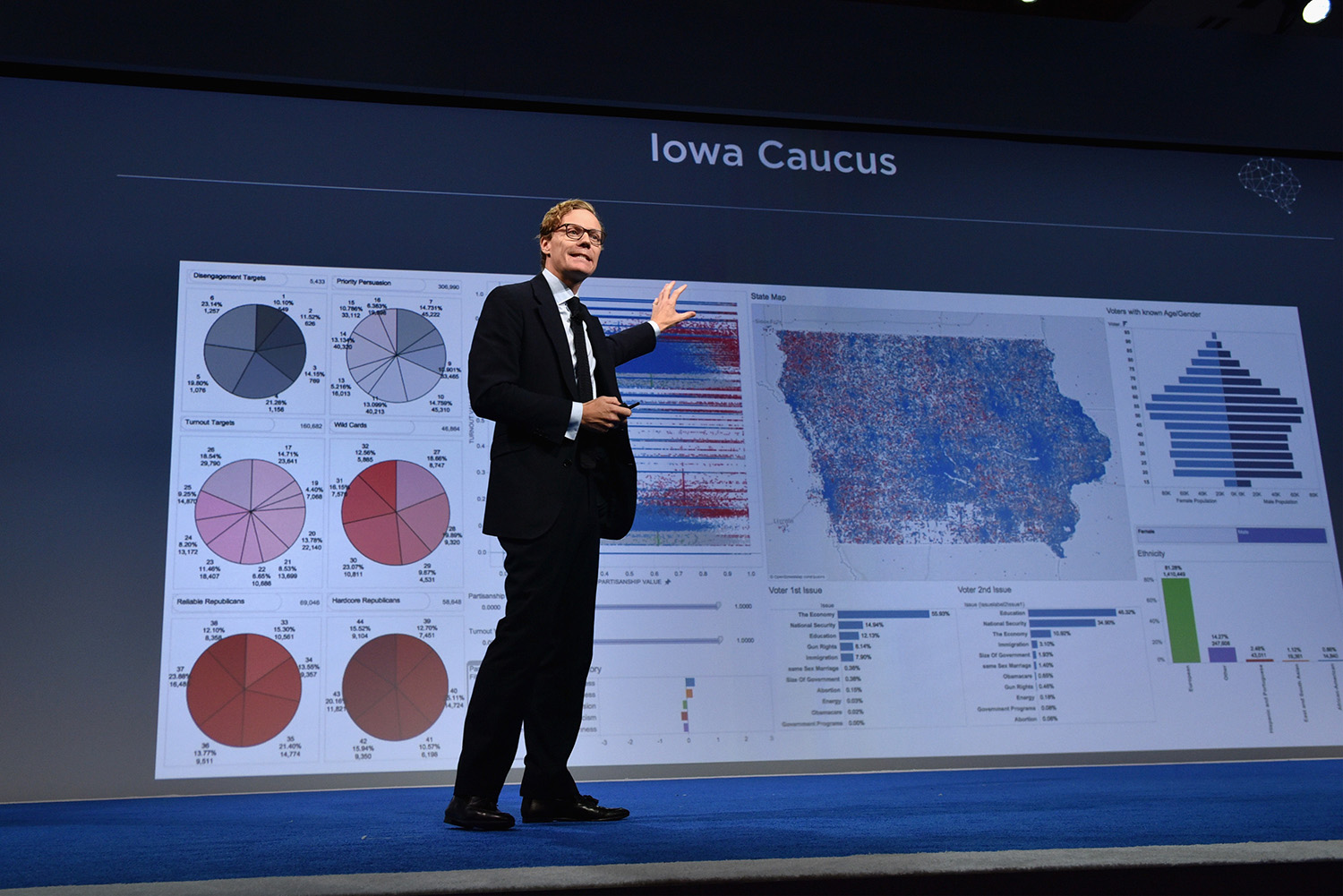 CEO of Cambridge Analytica Alexander Nix speaks at the 2016 Concordia Summit - Day 1 at Grand Hyatt New York on September 19, 2016 in New York City. (Bryan Bedder/Getty Images for Concordia Summit)