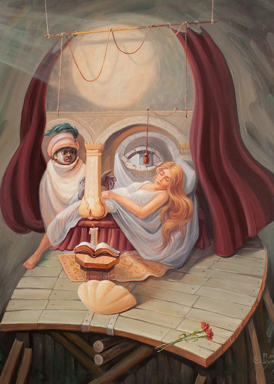 Russian Artist Oleg Shuplyak Hidden Figure Paintings Are Amazing Optical Illusions