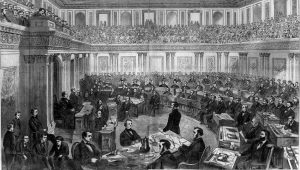 The Senate as a Court of Impeachment for the Trial of Andrew Johnson in 1868 (Library of Congress)