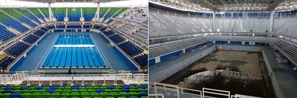 Olympic Swimming Pool 2017 olympic venues in rio de janeiro are in disrepair only six months