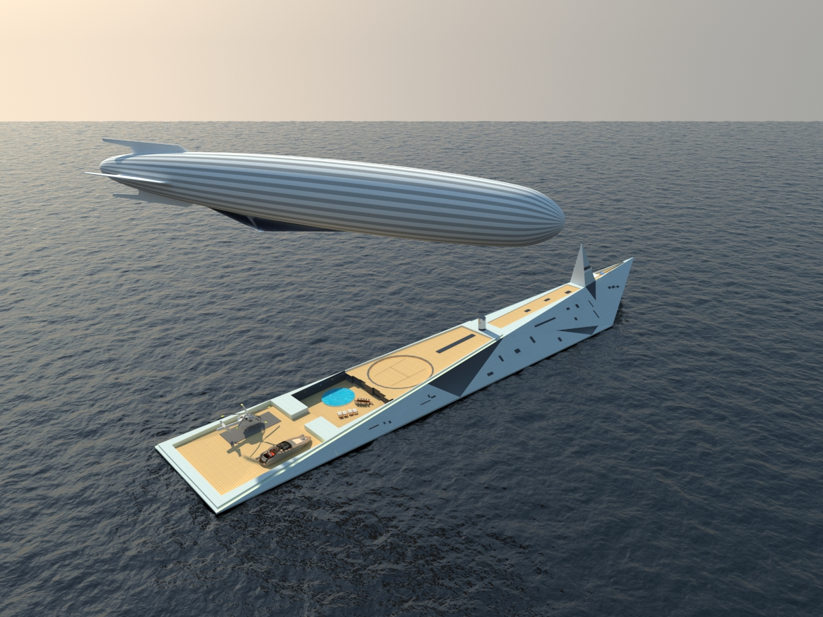 Superyacht Doubles as Zeppelin Terminal