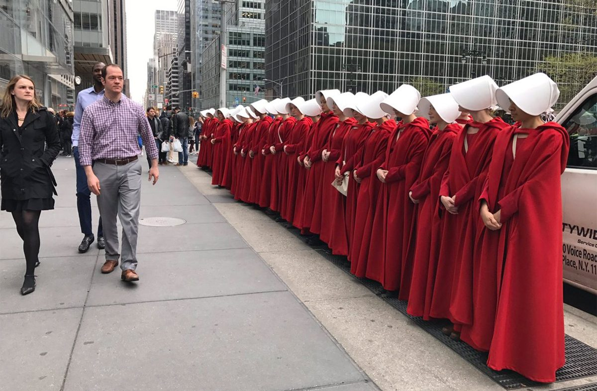 Image result for How The Handmaid's Tale dressed protests across the world