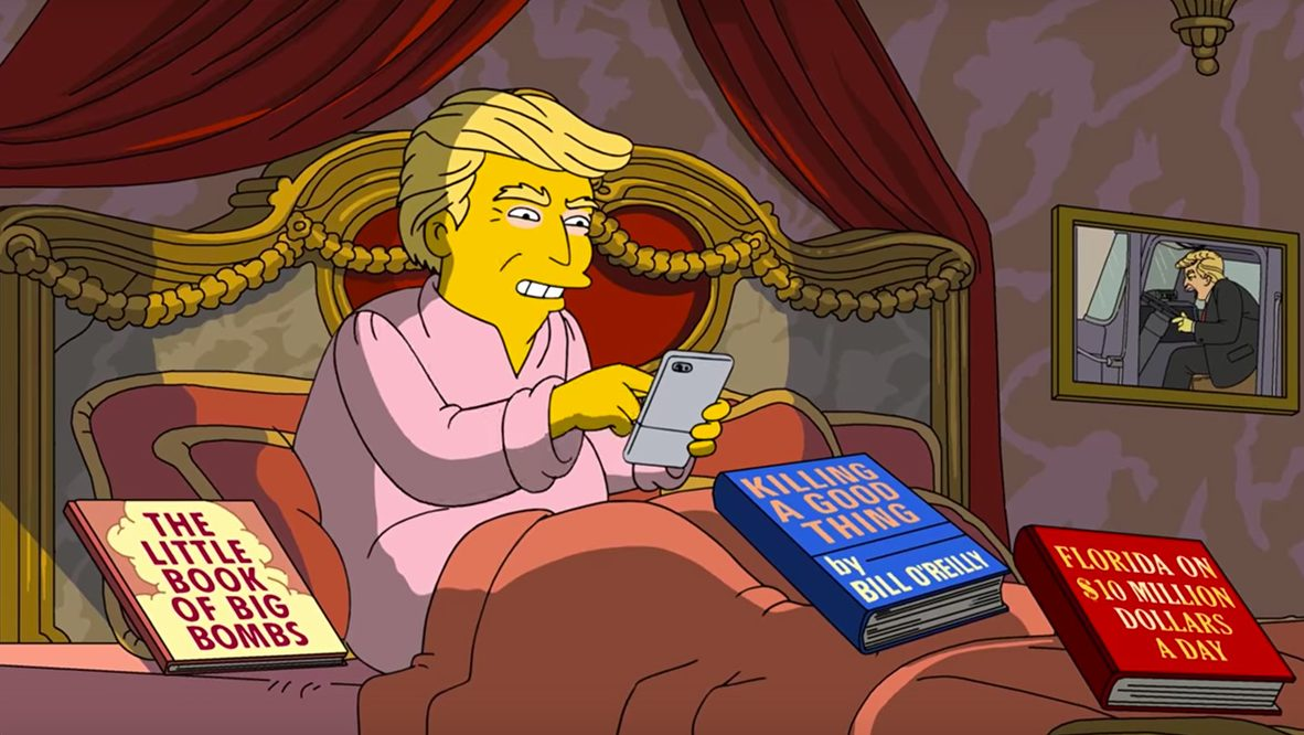 Did 'The Simpsons' Cross Line in Dark Take of Trump's First 100 Days?