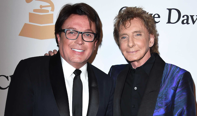 Recording artist Barry Manilow and his manager, Gary Kief, who is also his husband. (Getty)