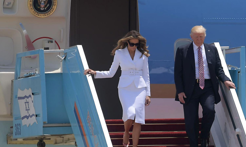 Melania Trump Swats Away President's Hand Upon Arriving in Israel