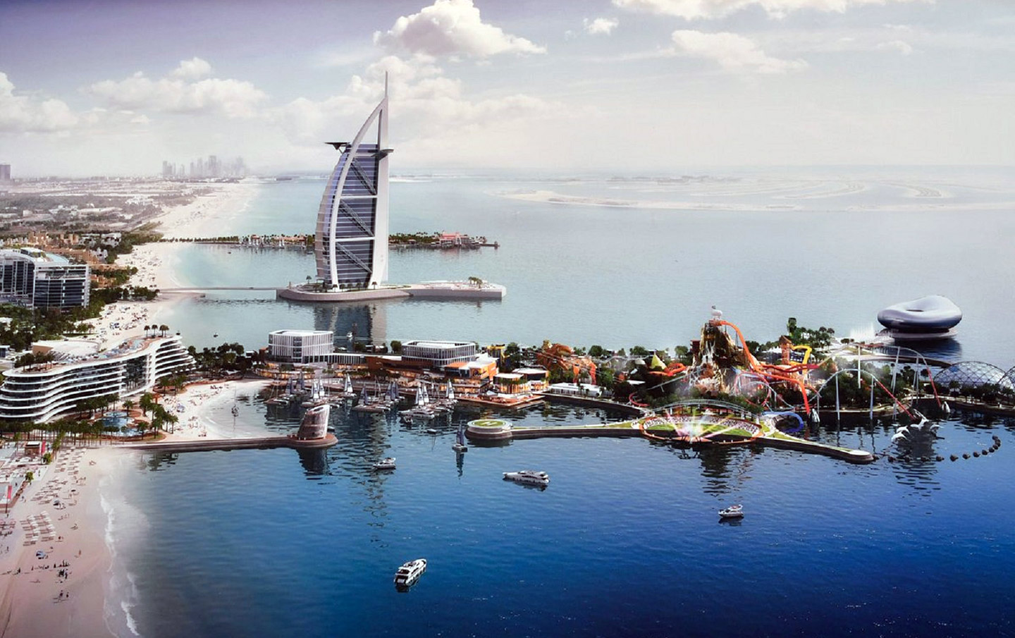 Rendering of Marsa Al Arab