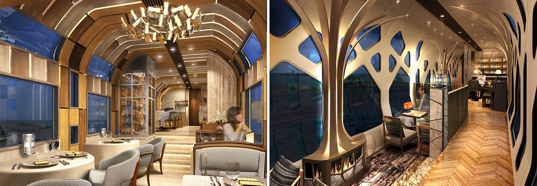Train Suite Shiki-shima design by Ken Okuyama