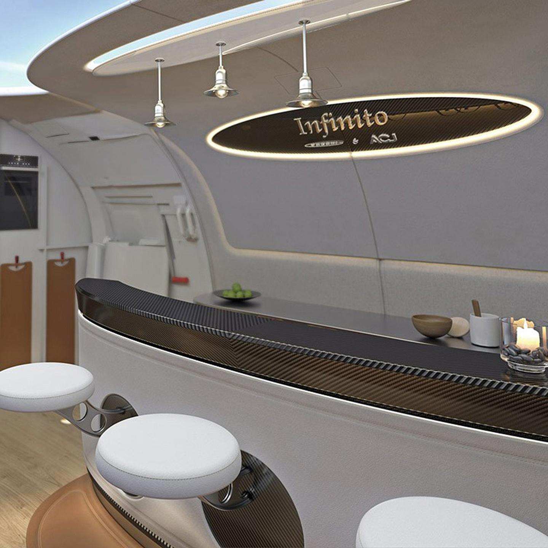 (Airbus/Pagani) & Airbus Pagani Team Up to Create Luxury u0027Infinitou0027 Business Jet Cabin azcodes.com