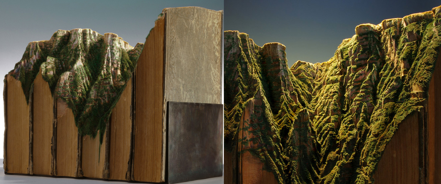 Guy Laramee book sculptures