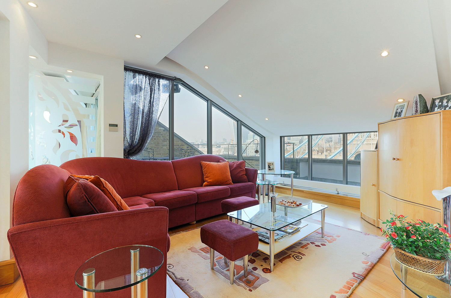 Interior views of The High Command penthouse in London
