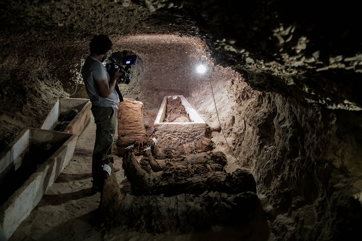 New discovered mummies in Minya