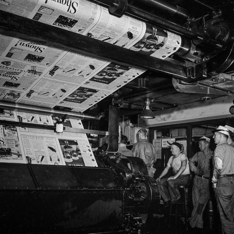 New York Times Newsroom 1940's
