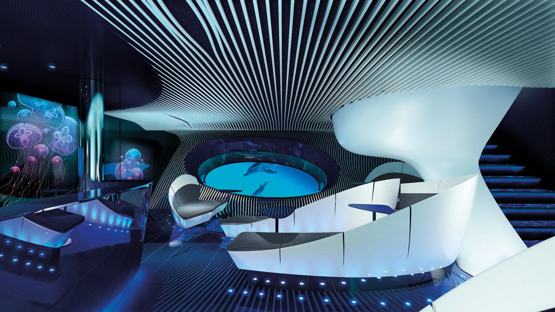 Cruise Ship Unveils First Underwater Lounge
