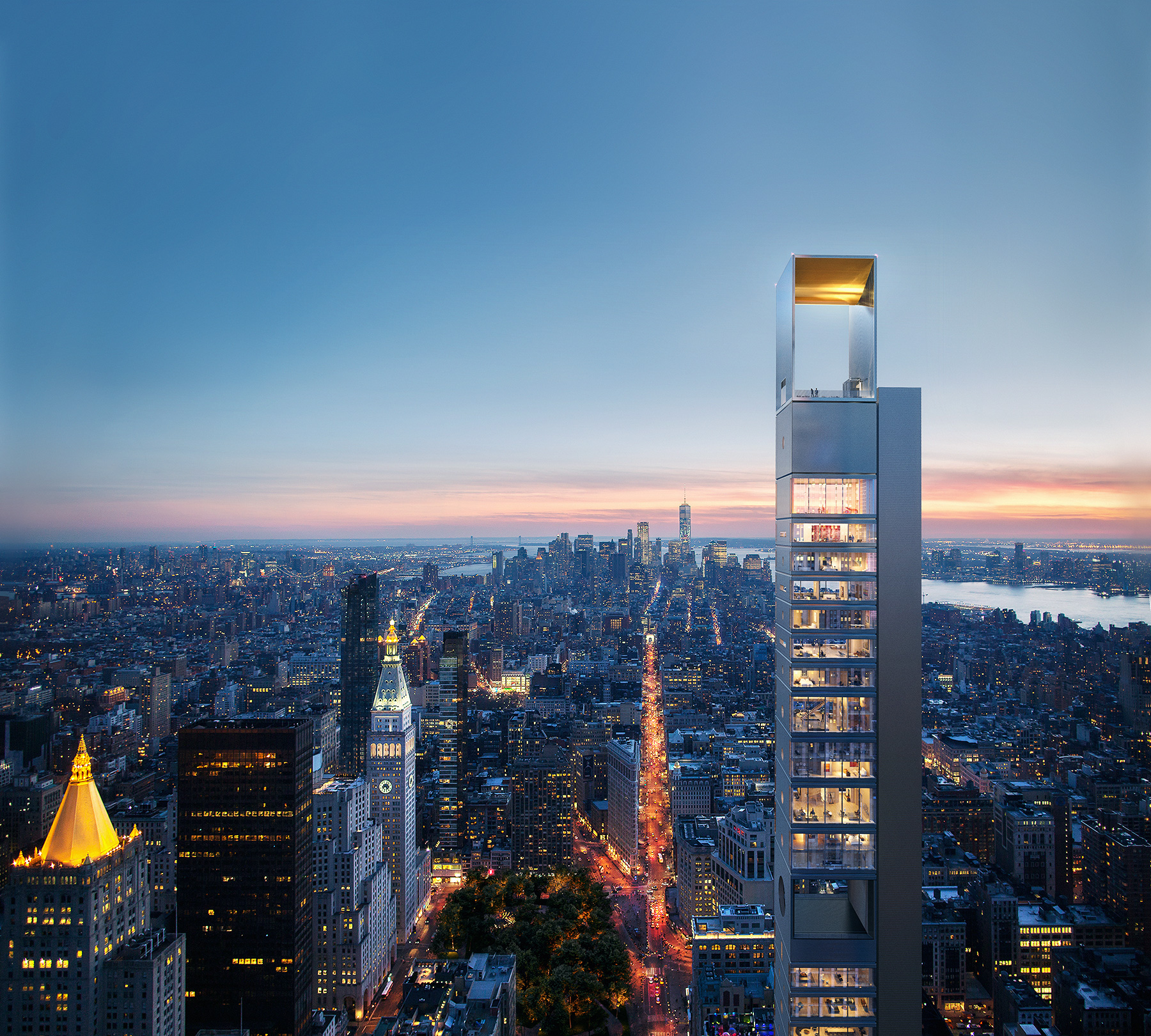 Russian Architecture Firm Unveils Designs for 1,001-Foot-Tall NYC Skyscraper