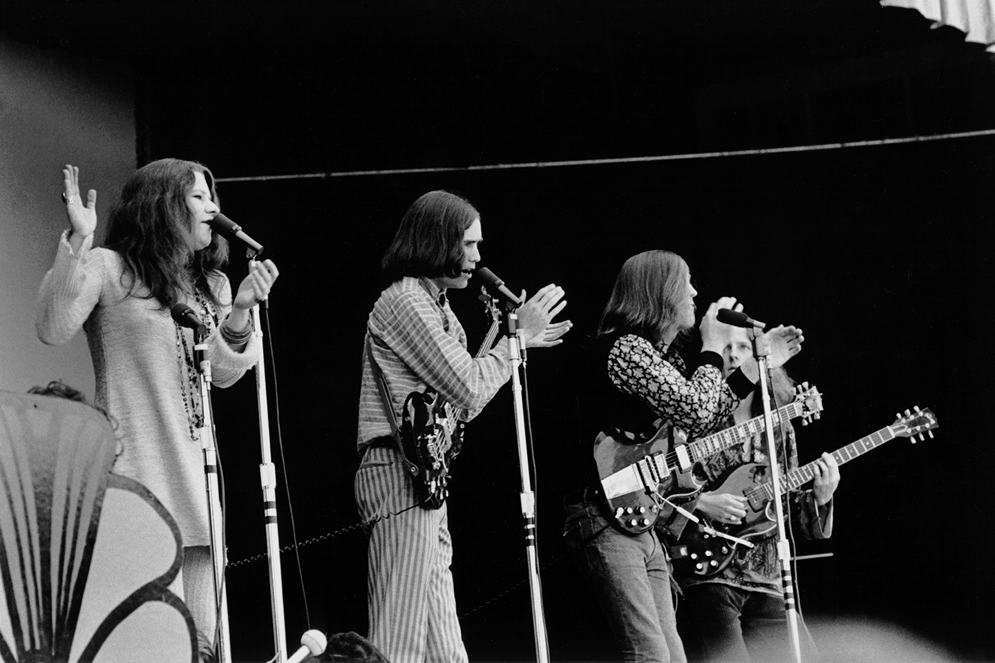 Janis Joplin, with Big Brother & Holding Co at Monterey Pop Festival
