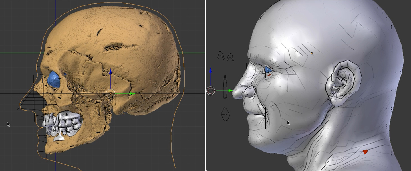 3d face Vesuvius victim