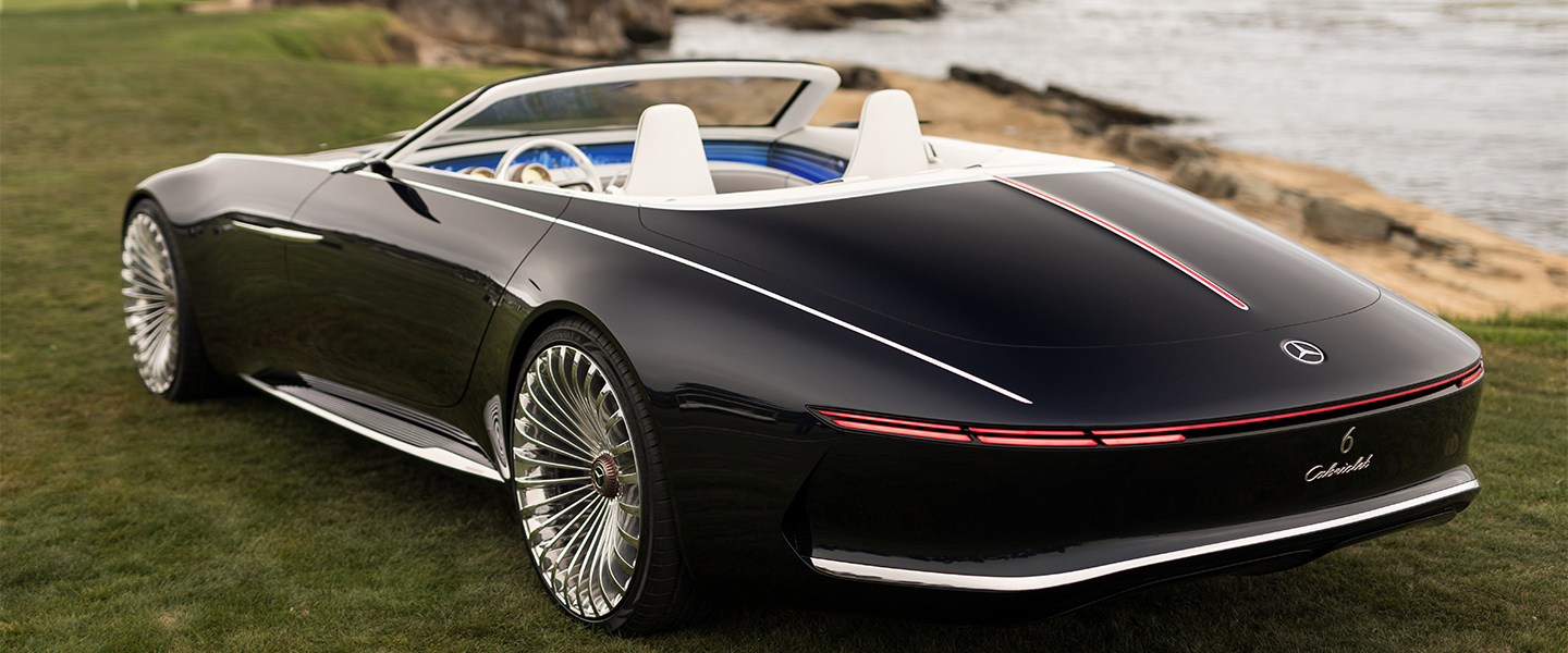 mercedes maybach reveals new futuristic convertible concept car. Black Bedroom Furniture Sets. Home Design Ideas